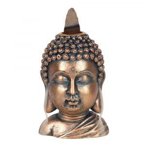 Backflow Incense Burner Bronze Buddha Head