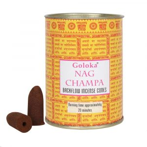 Goloka Backflow Incense Cones Nag Champa