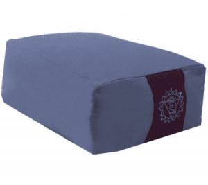 Yogi and Yogini Meditation Cushion Rectangular Cotton Blue - 2nd Chakra - 38 x 28 x 15 cm