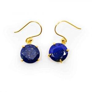Gemstone Earrings Lapis Lazuli - 925 Silver & Gilded