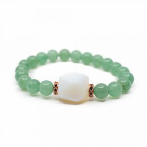 Gemstone Bracelet Green Aventurine with Opalite
