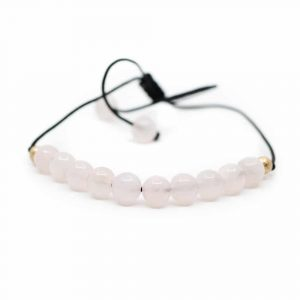 Gemstone Bracelet Pink Quartz Adjustable