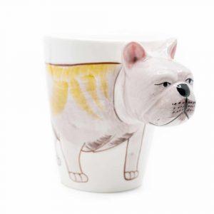 Cup Hand Painted Bulldog