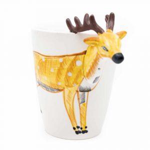 Cup Hand Painted Deer