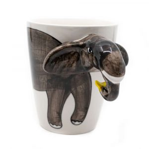 Hand Painted Elephant Cup