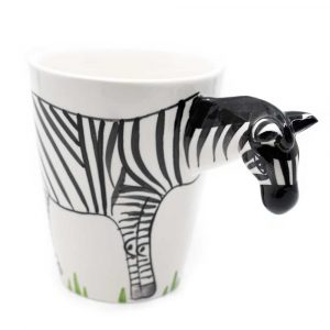Cup Hand Painted Zebra