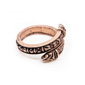 Adjustable Viking Ring Runes Bronze-coloured