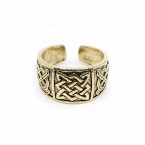 Viking Adjustable Ring Celtic Knot Gold-coloured