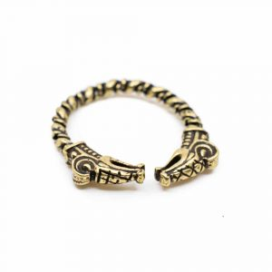 Adjustable Viking Ring Gold-coloured Dragon
