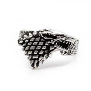 Viking Ring Wolf Silver-coloured