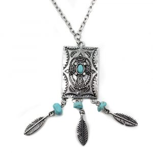 Bohemian Necklace with Amulet