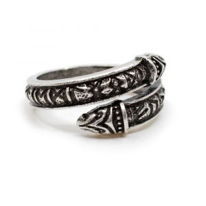 Adjustable Viking Ring Runes Silver-coloured