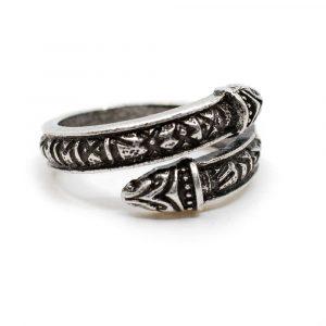 Adjustable Viking Ring Runes Silver-coloured