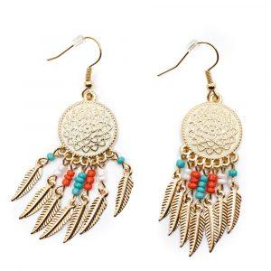 Bohemian Earrings Gold-coloured Mandala