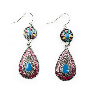 Bohemian Earrings Flower drop