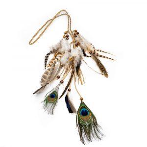 Bohemian Headband Peacock Feathers