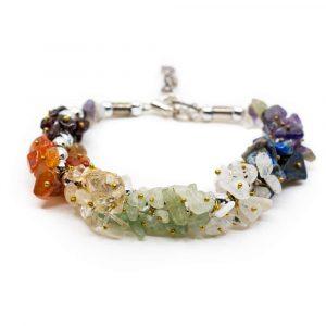 Gemstone Chip Bracelet 7 Chakra