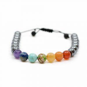 Gemstone Bracelet 7 Chakra and Hematite