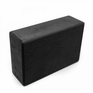 Spiru Yoga Block EVA Foam Black Rectangular - 22 x 15 x 7.5 cm