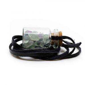 Gift Bottle on Waxcord with Fluorite