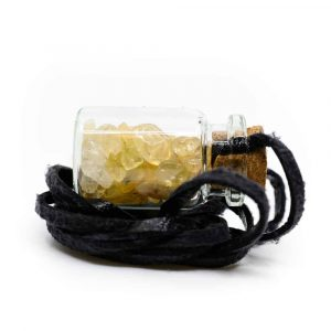 Gift Bottle on Wax Cord with Citrine