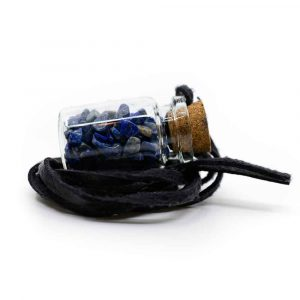 Gift Bottle on Wax Cord with Lapis Lazuli