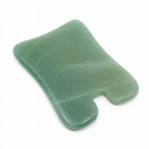 Guasha Scraper Green Aventurine Rectangle