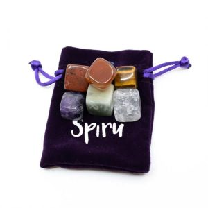 Set 7 Chakra Stones in Velvet Bag