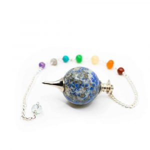 Pendulum Lapis Lazuli Sphere with Gemstone beads