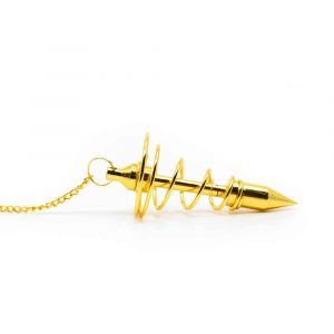 Pendulum Brass Plated Spiral Gold-Coloured