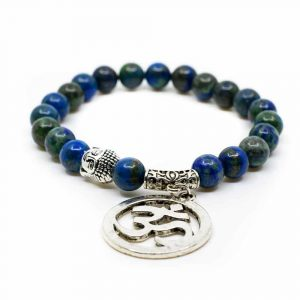 Gemstone Bracelet Azurite with OHM/Buddha