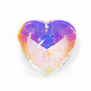 Rainbow Crystal Heart-shape Mother of Pearl (40 mm)