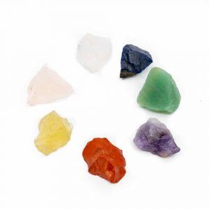 7 Chakra Raw Gems Set with Gift Bag