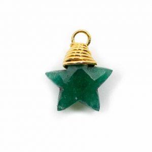 Birthstone Pendant Star May Emerald 925 Silver (10 mm)