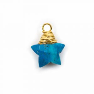 Birthstone Pendant Star December Turquoise 925 Silver (10 mm)