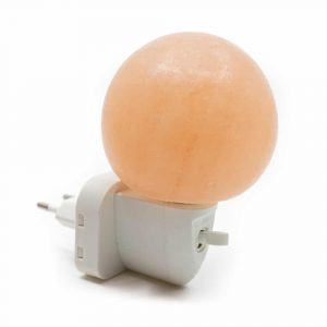 Salt Stone Night Light Orange Sphere
