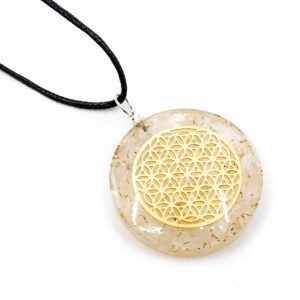 Orgon Pendant Flower of Life - Selenite