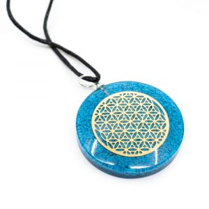 Orgon Pendant Flower of Life - Turquoise