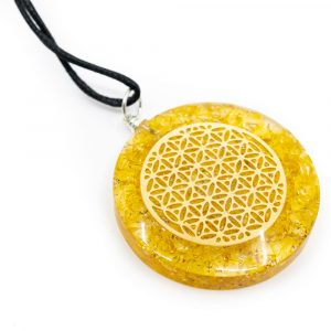 Orgon Pendant Flower of Life - Citrine