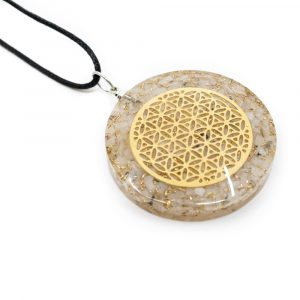 Orgon Pendant Flower of Life - Rainbow Moonstone