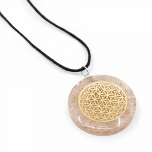 Orgon Pendant Flower of Life - Rose Quartz