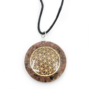Orgon Pendant Flower of Life - Rhodonite