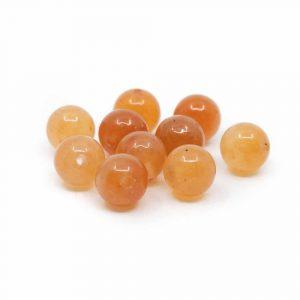 Gemstone Loose Beads Red Aventurine - 10 pieces (6 mm)