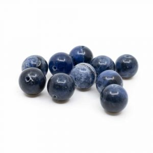 Gemstone Loose Beads New Sodalite - 10 pieces (10 mm)