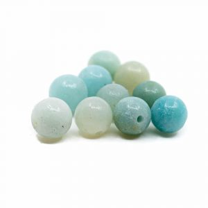Gemstone Loose Beads Amazonite - 10 pieces (6 mm)