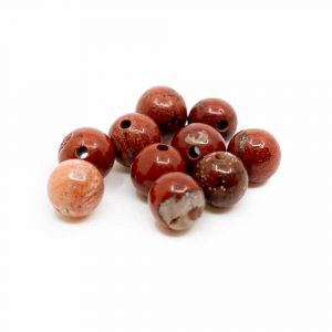 Gemstone Loose Beads Red Jasper - 10 pieces (6 mm)