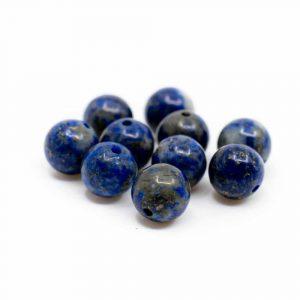 Gemstone Loose Beads Lapis Lazuli - 10 pieces (6 mm)