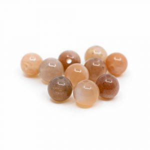 Gemstone Loose Beads Sunstone - 10 pieces (6 mm)