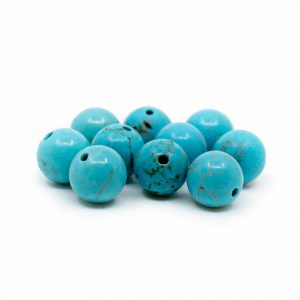 Gemstone Loose Beads Turquoise - 10 pieces (6 mm)