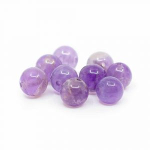 Gemstone Loose Beads Amethyst - 10 pieces (6 mm)